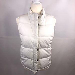 Gap White Puffer Vest Size S